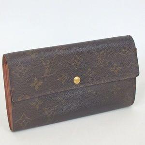 Vintage VUITTON Old Portefeuille sarah purse
